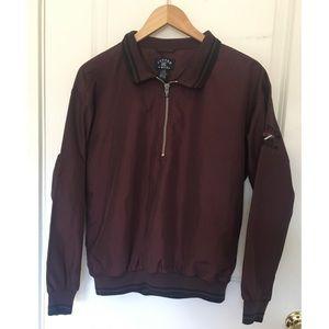 Cutter & Buck Burgundy Half Zip Jacket